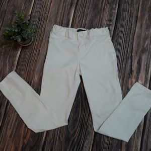 Children's Place white jeggings for girls size 8